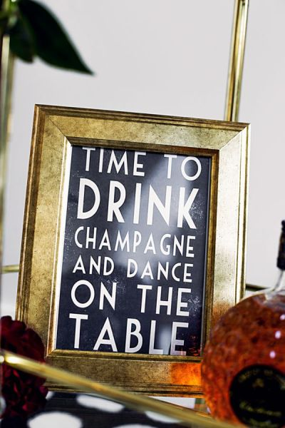 """Time to Drink Champagne and Dance on the Table."" - Glittery & Glitzy New Year's Eve Wedding Inspiration - Fairly Southern"