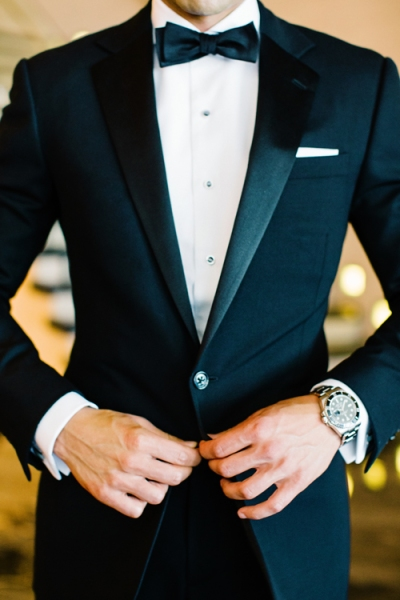 Groom in a Classic Tux for this Glitzy & Glittery New Year's Eve Wedding - Fairly Southern