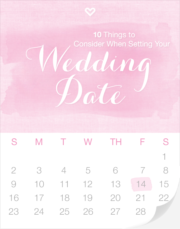 10 Things to Consider When Setting Your Wedding Date via Loverly - Wedding Belles Blog