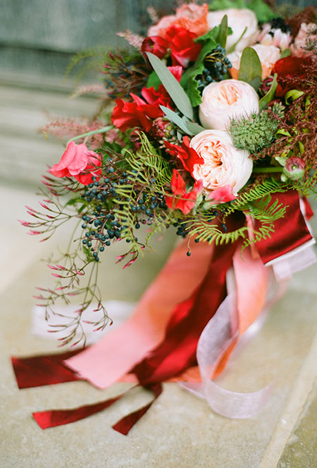 Winter Wedding Bouquet - Wedding Belles Blog