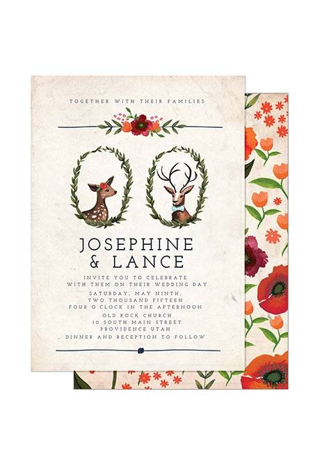 """You're My Deer One"" Winter Wedding Stationery - Wedding Belles Blog"
