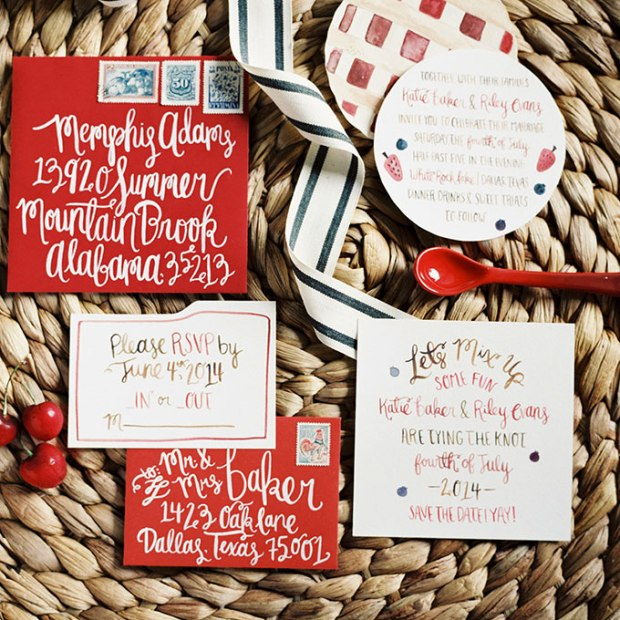"""Sweet as Pie"" Winter Wedding Stationery - Wedding Belles Blog"