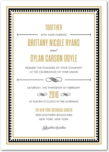 Lavish Union Wedding Invitation from the Wedding Paper Divas Southern Living Collection - Wedding Belles Blog