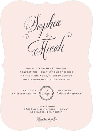Encircled Love Wedding Invitation from the Wedding Paper Divas Southern Living Collection - Wedding Belles Blog