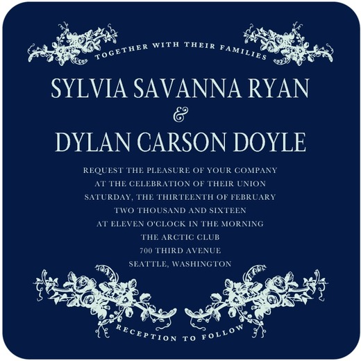 Fanciful Corners Wedding Invitation from the Wedding Paper Divas Southern Living Collection - Wedding Belles Blog