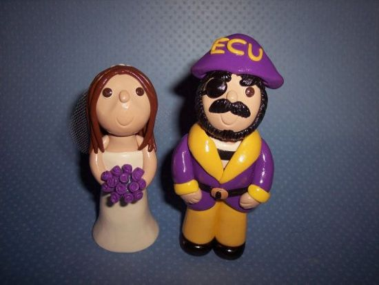 ECU wedding cake topper - Fairly Southern