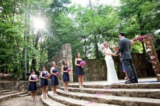 Wedding at UNC's Forest Theatre - Fairly Southern