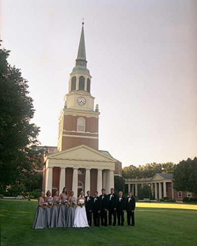 Wedding at Wait Chapel at Wake Forest University - Fairly Southern
