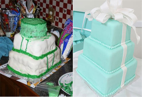 15 Disastrous Wedding Cakes That Brought Brides to Tears, via Likes - Wedding Belles Blog