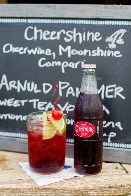 """Cheershine"" Cocktail: Cheerwine, moonshine, and Campari - Wedding Belles Blog"