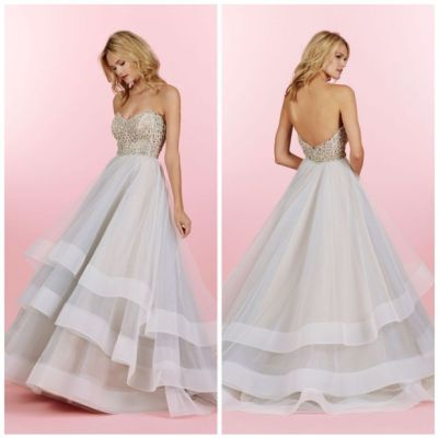 Striped Hayley Paige Wedding Gown - Fairly Southern