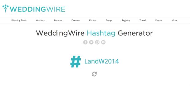 WeddingWire Hashtag Generator: Create a Personalized Wedding Hashtag! - Wedding Belles Blog