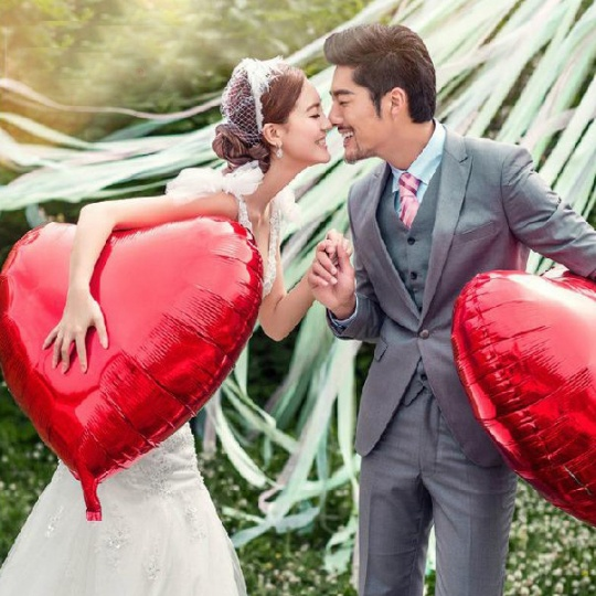 Gigantic Heart Balloons from JH Couture