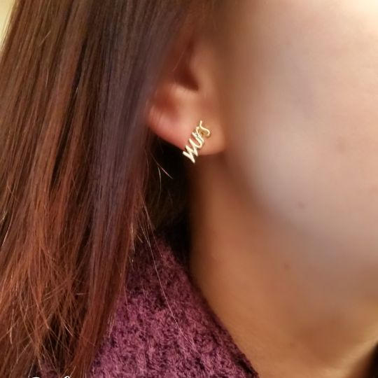 Mrs. Earring Studs by Everyday Icing - Wedding Belles Blog