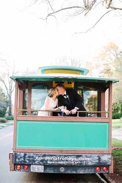 Wedding Trolley - Preppy and Classic Kelly Green Wedding - Wedding Belles Blog