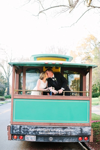Wedding Trolley - Preppy and Classic Kelly Green Wedding - Wedding Belles Blog