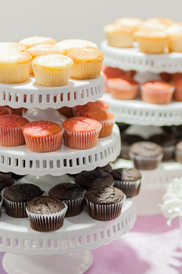 Cupcake Bars: The Latest Innovation in Wedding Cakes! Guests choose the cupcake flavor and icing flavor they want, then decorate their cupcakes with various toppings. An entertaining (and delicious!) wedding cake idea! - Fairly Southern