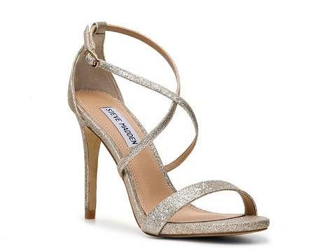 Steve Madden Feliz Glitter Sandal - Wedding Belles Blog