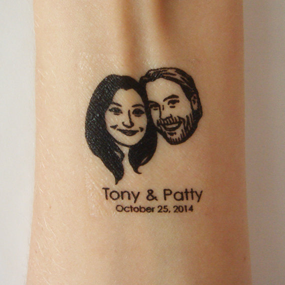 Temporary Tattoo Wedding Favor - Fairly Southern