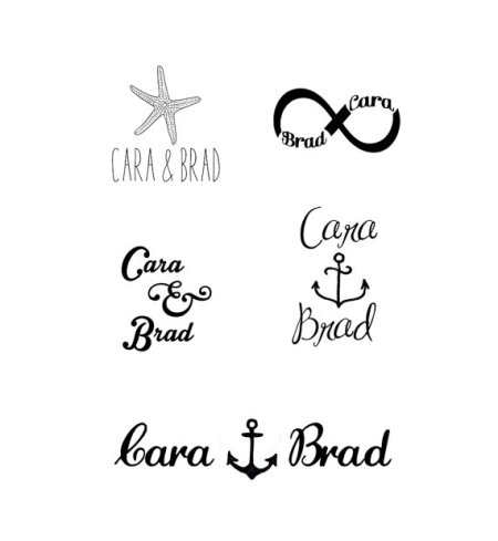 Temporary Tattoo Wedding Favors - Fairly Southern