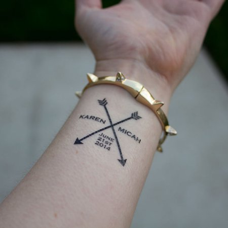 Temporary Tattoo Wedding Favor - Wedding Belles Blog