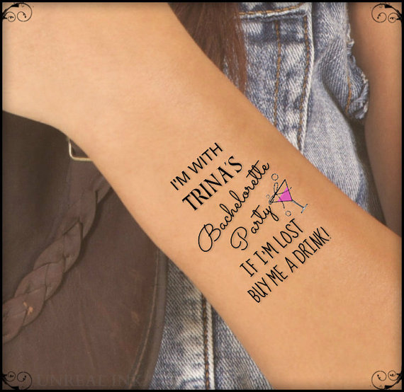 Bachelorette Party Temporary Tattoo - Fairly Southern