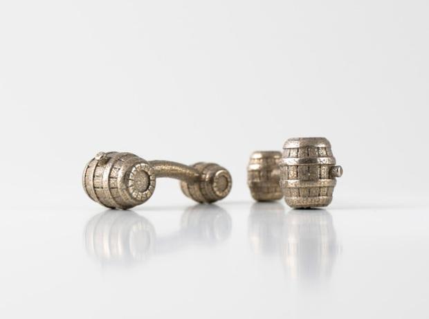 3D Printed Barrel Cufflinks - Trés Belle Blog