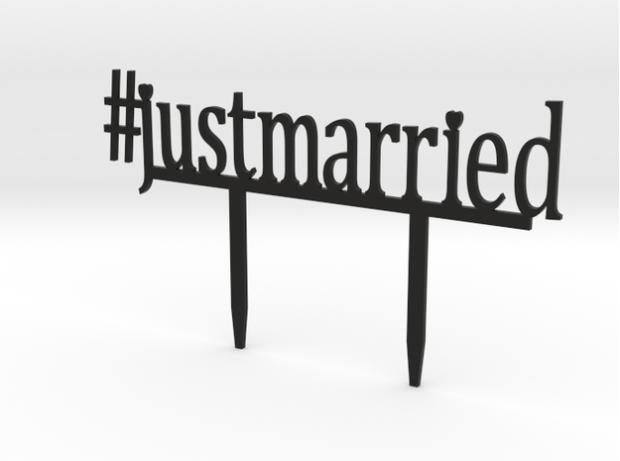3D Printed #justmarried Cake Topper - Trés Belle Blog