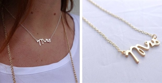 "On Sale: ""Mrs."" Necklace - Trés Belle Blog"