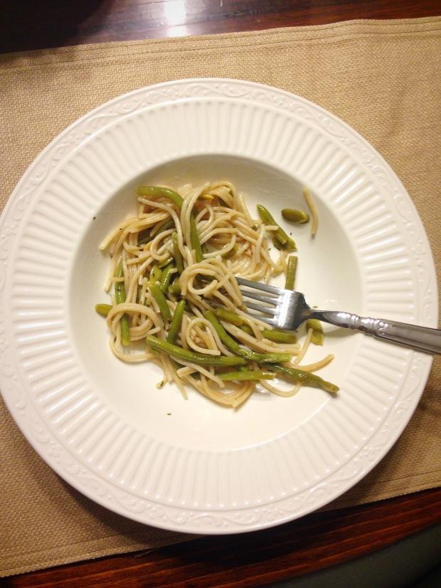 Green Bean and Pumpkin Seed Pasta | Trés Belle