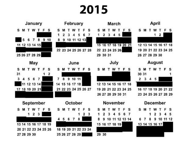 Wedding Blackout Dates for 2015, via Crabby Bride   Trés Belle