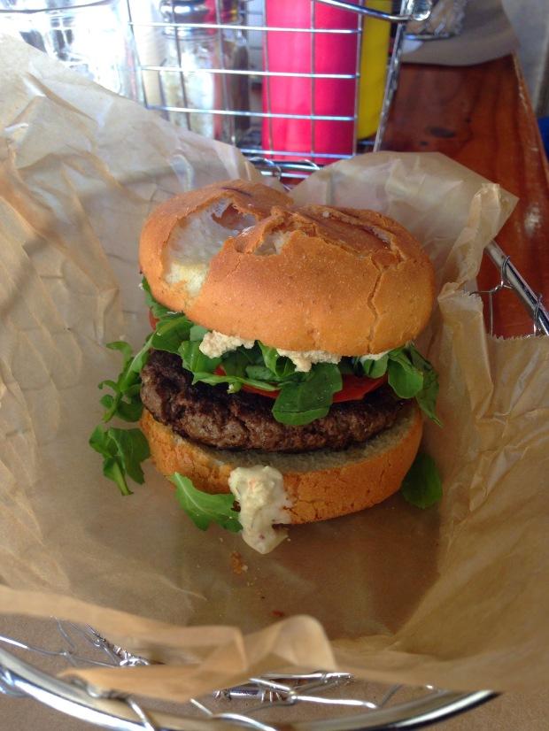 Gluten-free burger | Trés Belle