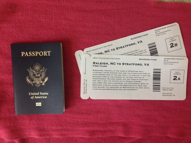 Easy, Faux Boarding Pass Gift Idea | Très Belle
