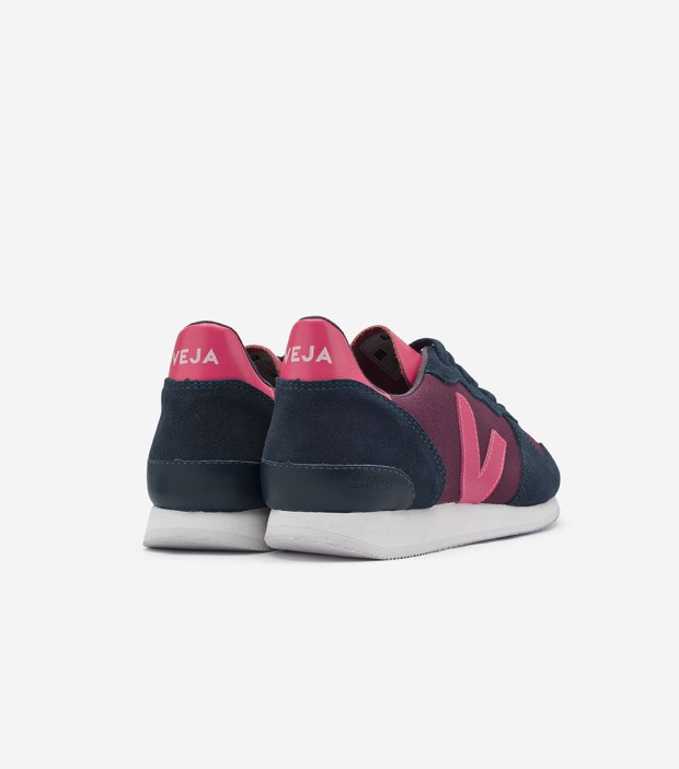 Veja Holiday Low Top Groseille Nautico Rose Fluo Fair Trade Sneakers | Très Belle