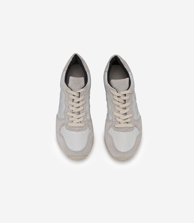 Veja Holiday Low Top Suede B-Mesh White Pierre Fair Trade Sneakers | Très Belle