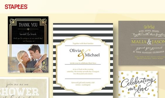 71% Off Staples Wedding Invitations  |  Trés Belle