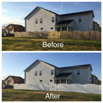 White Fence Before and After | Trés Belle