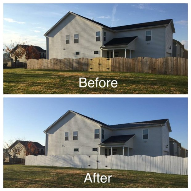 White Fence Before and After | Fairly Southern