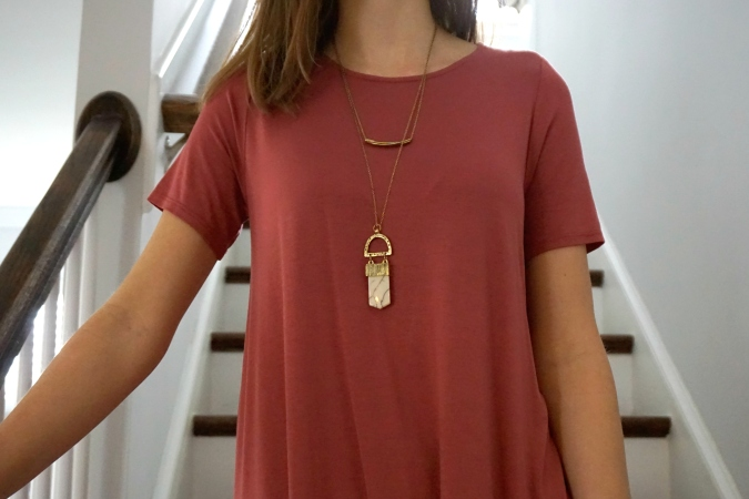 Layered amulet necklace made by fair trade artisan co-op in India  |  Trés Belle