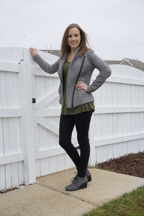 Olive + Herringbone Ethical Outfit | Trés Belle